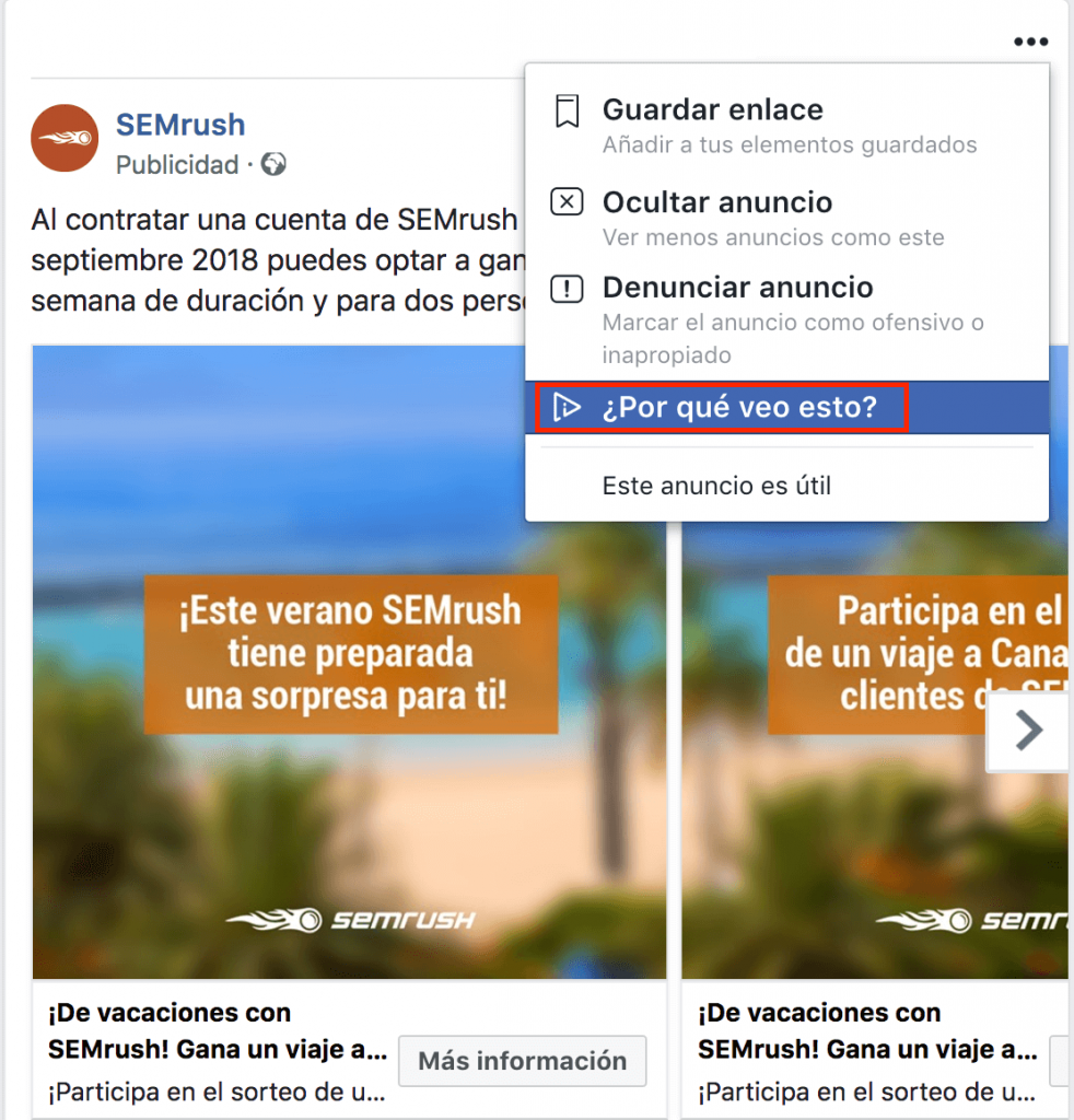 espiar anuncio facebook