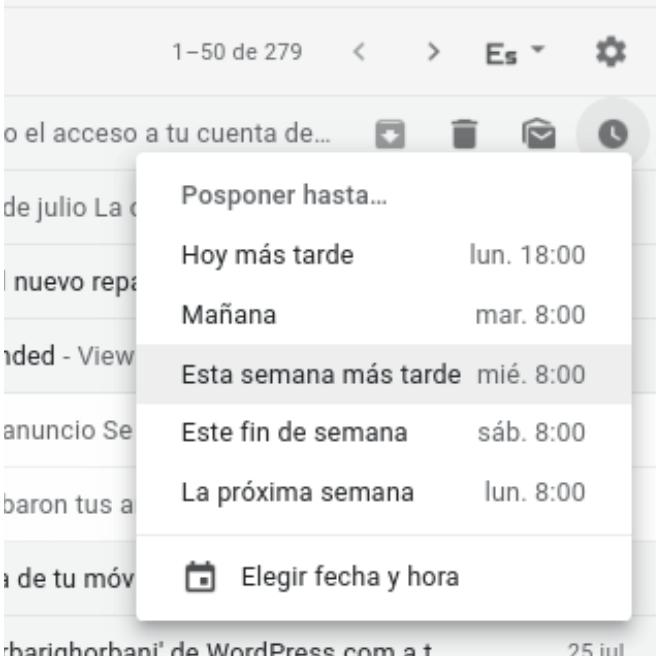 poscponer tu correo en gmail